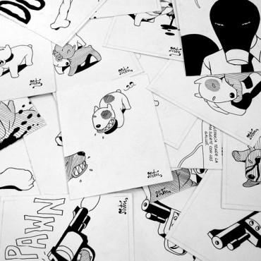 Dogs (Rojo) 20 dibujos