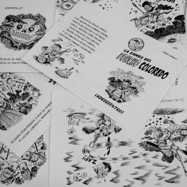 La zamba del poncho colorado (ROJO) 9 dibujos