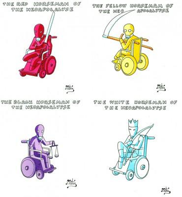 Calendario Apocalittico 7 (4 illustrations)