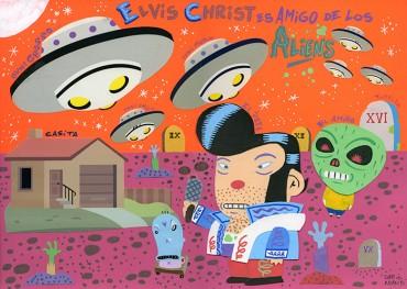Elvis Christ es amigo de los Aliens